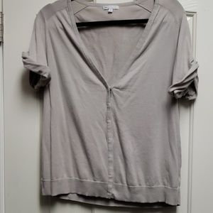 Cropped light gray sweater